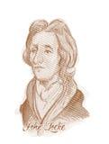 Πορτρέτο σκίτσων ύφους χάραξης του John Locke Στοκ φωτογραφίες με δικαίωμα ελεύθερης χρήσης