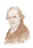 Πορτρέτο σκίτσων ύφους χάραξης Watt του James Στοκ φωτογραφία με δικαίωμα ελεύθερης χρήσης