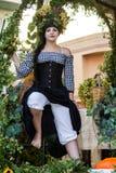 Πορτρέτο στο σαρδηνιακό κοστούμι στοκ φωτογραφία με δικαίωμα ελεύθερης χρήσης