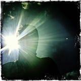 Πορτρέτο στο backlight Στοκ Εικόνες