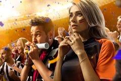 Πορτρέτο συγκινήσεων ανεμιστήρων ποδοσφαίρου σταδίων στοκ φωτογραφία με δικαίωμα ελεύθερης χρήσης