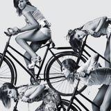Πορτρέτο τέχνης μόδας ενός όμορφου νέου προκλητικού wo στοκ φωτογραφίες