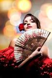 Πορτρέτο τέχνης μόδας του όμορφου κοριτσιού. Ανδαλουσιακή γυναίκα ύφους Στοκ Φωτογραφία