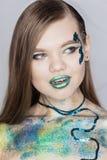 Πορτρέτο τέχνης μόδας makeup Στοκ φωτογραφία με δικαίωμα ελεύθερης χρήσης