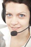 πορτρέτο τηλεφωνικών κέντρ&o Στοκ εικόνες με δικαίωμα ελεύθερης χρήσης