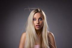 Πορτρέτο της έκπληξης του κοριτσιού Στοκ Εικόνες