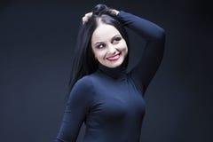 Πορτρέτο της αισθησιακής μέσος-γερασμένης καυκάσιας γυναίκας Brunette Στοκ Εικόνα