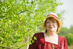 Πορτρέτο της ανώτερης γυναίκας Στοκ εικόνες με δικαίωμα ελεύθερης χρήσης