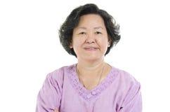Πορτρέτο της ανώτερης ενήλικης γυναίκας στοκ φωτογραφία με δικαίωμα ελεύθερης χρήσης