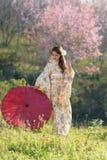 Πορτρέτο της ασιατικής παραδοσιακής γυναίκας Στοκ Εικόνα