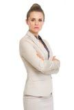 Πορτρέτο της βέβαιας επιχειρησιακής γυναίκας Στοκ Εικόνα