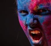 Πορτρέτο της γυναίκας με τη σύνθεση χρωμάτων στοκ εικόνες με δικαίωμα ελεύθερης χρήσης