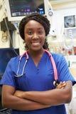 Πορτρέτο της γυναίκας νοσοκόμα στη εντατική Στοκ Εικόνες
