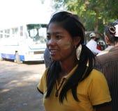 Πορτρέτο της γυναίκας του Μιανμάρ στο Mandalay, το Μιανμάρ Στοκ εικόνες με δικαίωμα ελεύθερης χρήσης