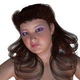 Πορτρέτο της γυναίκας Curvy απεικόνιση αποθεμάτων