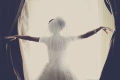Πορτρέτο της ελκυστικής νύφης στοκ φωτογραφία με δικαίωμα ελεύθερης χρήσης