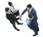 Πορτρέτο της ευτυχούς επιτυχούς επιχειρηματικής μονάδας στοκ εικόνα με δικαίωμα ελεύθερης χρήσης