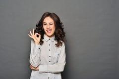 Πορτρέτο της ελκυστικής επιχειρηματία brunette Στοκ Εικόνες