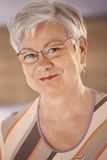 Πορτρέτο της ηλικιωμένης γυναίκας Στοκ Εικόνες