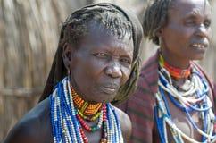 Πορτρέτο της ηλικιωμένης γυναίκας από τη φυλή Arbore, Αιθιοπία Στοκ Εικόνες