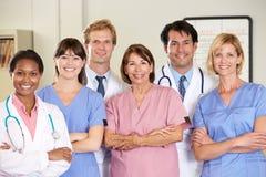 Πορτρέτο της ιατρικής ομάδας Στοκ εικόνα με δικαίωμα ελεύθερης χρήσης