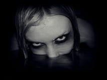 Πορτρέτο της κακής γοργόνας Στοκ φωτογραφία με δικαίωμα ελεύθερης χρήσης