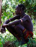 Πορτρέτο της κοιλάδας Omo ατόμων φυλών hamer, Αιθιοπία Στοκ εικόνες με δικαίωμα ελεύθερης χρήσης