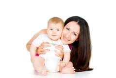Πορτρέτο της μητέρας και του μωρού Στοκ φωτογραφία με δικαίωμα ελεύθερης χρήσης