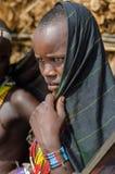 Πορτρέτο της νέας γυναίκας από τη φυλή Arbore, Αιθιοπία Στοκ Εικόνες