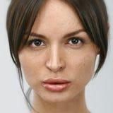 Πορτρέτο της νέας γυναίκας χωρίς σύνθεση Στοκ Εικόνα
