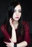 Πορτρέτο της νέας γυναίκας brunnete Στοκ Εικόνες