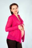 Πορτρέτο της νέας εγκύου γυναίκας Στοκ Εικόνες