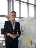 Πορτρέτο της νέας επιχειρησιακής γυναίκας στο σύγχρονο γραφείο Στοκ φωτογραφίες με δικαίωμα ελεύθερης χρήσης