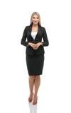 Πορτρέτο της νέας ευτυχούς χαμογελώντας επιχειρηματία στο κοστούμι α στοκ εικόνες με δικαίωμα ελεύθερης χρήσης