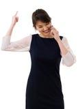 Πορτρέτο της νέας όμορφης επιχειρησιακής γυναίκας που απομονώνεται Στοκ φωτογραφία με δικαίωμα ελεύθερης χρήσης