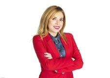 Πορτρέτο της νέας όμορφης ξανθής επιχειρηματία στοκ φωτογραφία με δικαίωμα ελεύθερης χρήσης