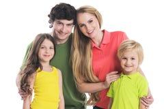 Πορτρέτο της οικογένειας με τα παιδιά Στοκ Φωτογραφία