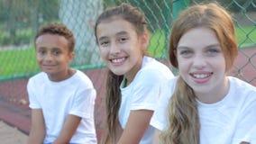 Πορτρέτο της ομάδας ποδοσφαίρου νεολαίας που εκπαιδεύει από κοινού απόθεμα βίντεο