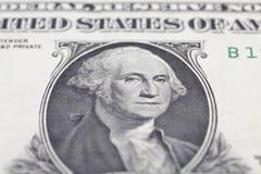 Πορτρέτο της Ουάσιγκτον George στο λογαριασμό δολαρίων Στοκ εικόνα με δικαίωμα ελεύθερης χρήσης