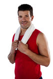 Πορτρέτο της πετσέτας εκμετάλλευσης αθλητικών τύπων Στοκ Φωτογραφίες