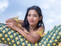Πορτρέτο της ταϊλανδικής κυρίας στοκ εικόνα με δικαίωμα ελεύθερης χρήσης