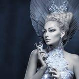 Πορτρέτο της χειμερινής βασίλισσας στοκ εικόνες