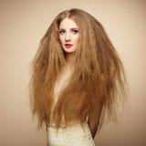 Πορτρέτο της όμορφης αισθησιακής γυναίκας με το κομψό hairstyle Στοκ εικόνα με δικαίωμα ελεύθερης χρήσης