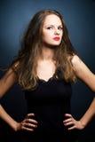 Πορτρέτο της όμορφης νέας γυναίκας Στοκ φωτογραφία με δικαίωμα ελεύθερης χρήσης
