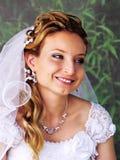Πορτρέτο της όμορφης νύφης στοκ εικόνες με δικαίωμα ελεύθερης χρήσης
