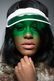 Πορτρέτο της όμορφης fasionable μαύρης γυναίκας Στοκ φωτογραφίες με δικαίωμα ελεύθερης χρήσης