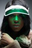 Πορτρέτο της όμορφης fasionable μαύρης γυναίκας Στοκ εικόνες με δικαίωμα ελεύθερης χρήσης