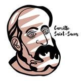 Πορτρέτο της Camille Άγιος-Saens απεικόνιση αποθεμάτων