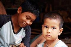 πορτρέτο της Myanmar παιδιών Στοκ Εικόνα