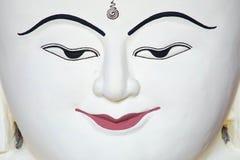 Πορτρέτο του άσπρου προσώπου του Βούδα Στοκ Εικόνα
